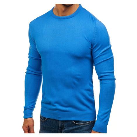 Fashionable men's sweater - light blue, DStreet