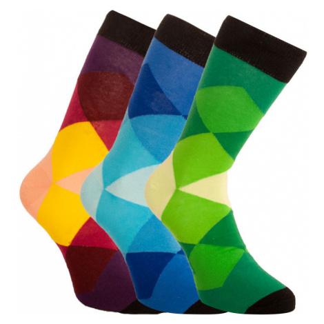 3PACK ponožky Bellinda viacfarebné (1004-307 B) L