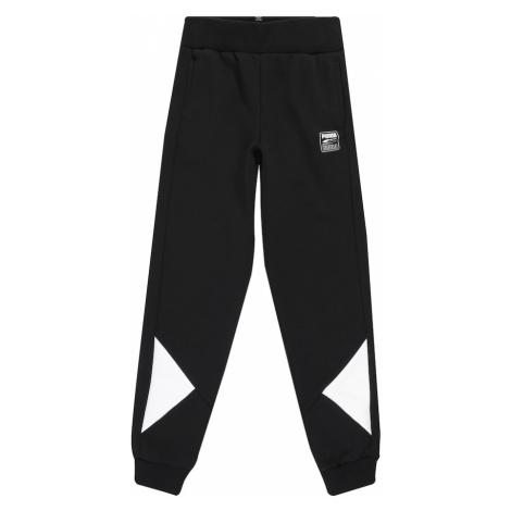 PUMA Športové nohavice 'Rebel'  čierna / biela