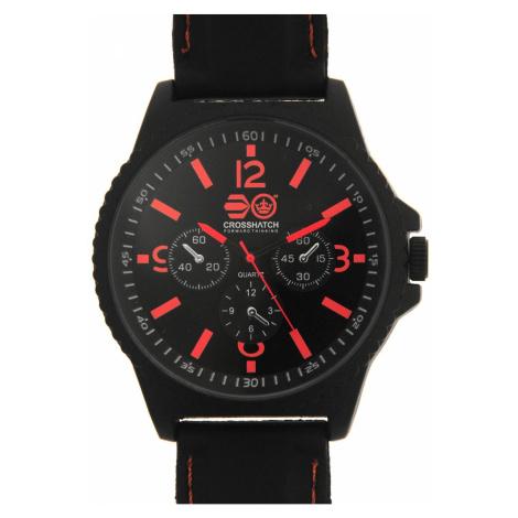 Pánske hodinky Crosshatch Quartz Stitched Rubber Strap