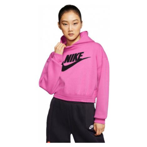 Nike NSW ICN CLSH FLC HOODIE BB W ružová - Dámska mikina