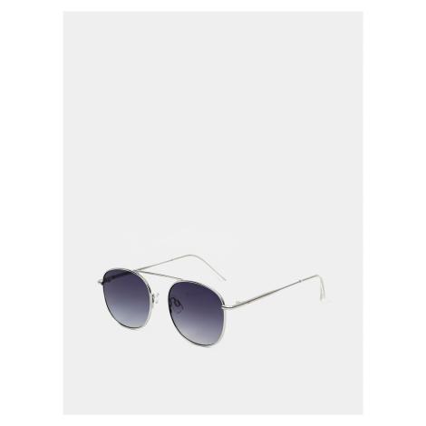 Slnečné okuliare v striebornej farbe Jack & Jones Team