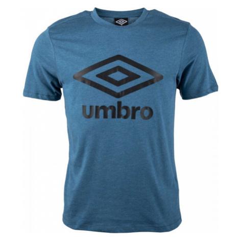 Umbro FW LARGE LOGO TEE modrá - Pánske tričko