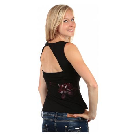 Krátke letné tielko s odhaleným chrbtom