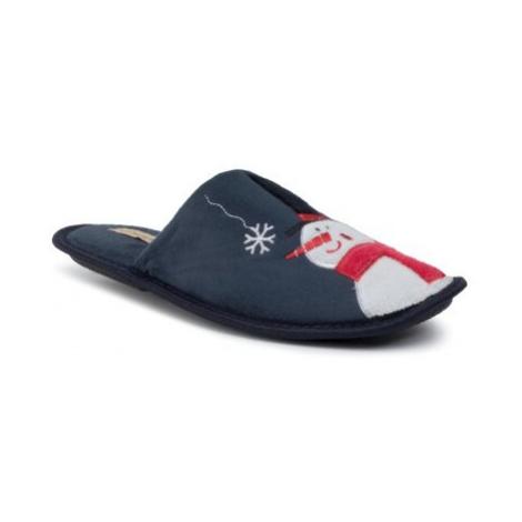Modrá pánska domáca obuv