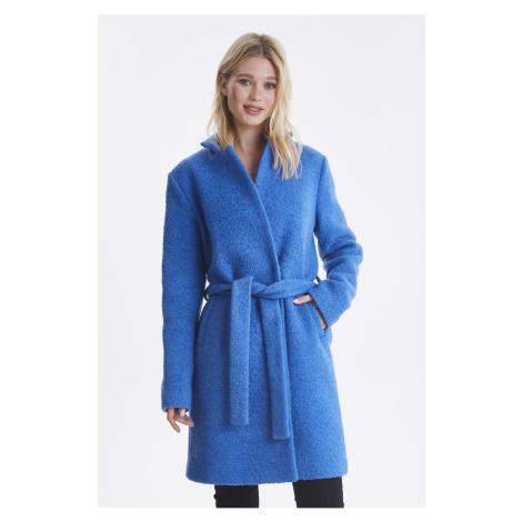 Ichi modrý kabát Ihstipa s viazaním