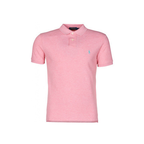 Polo Ralph Lauren POLO CINTRE SLIM FIT EN COTON BASIC MESH LOGO PONY PLAYER Ružová
