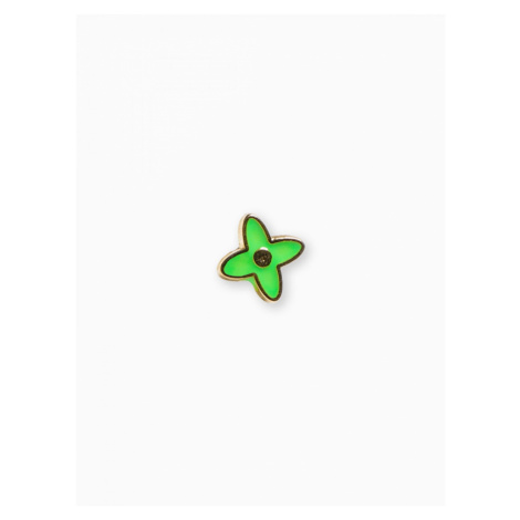 Ombre Clothing Men's lapel pin flower A227 Green