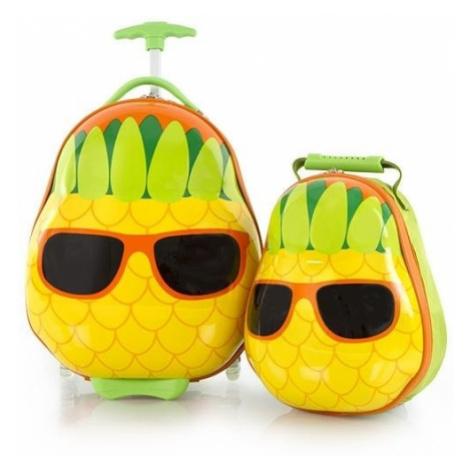 Heys Detská sada batohu a kufra Travel Tots Pineapple