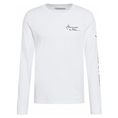 Abercrombie & Fitch Tričko  biela / čierna