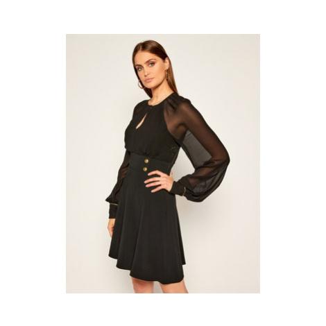 Pinko Koktejlové šaty Romeo AI 20-21 BLK0 1G150H Y6DR Čierna Regular Fit