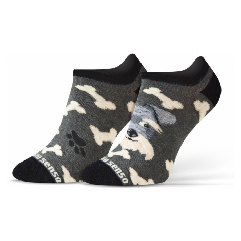 Sesto Senso Unisex's Finest Cotton Low Cut Socks Dogs