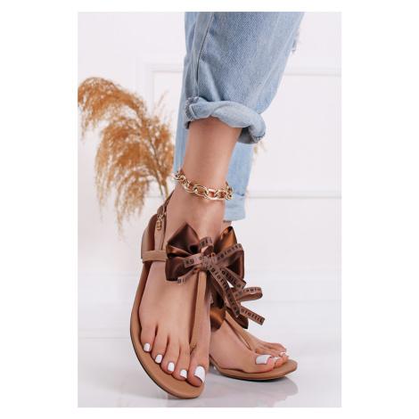 Hnedé nízke sandále Amelia Laura Biagiotti