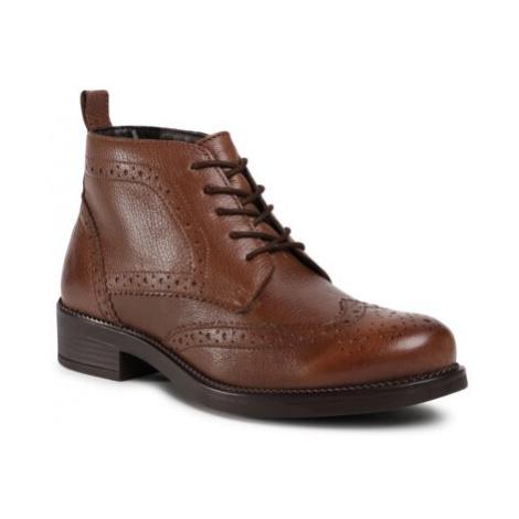 Šnurovacia obuv Lasocki WI23-TALLIN-03 Prírodná koža(useň) - Lícova