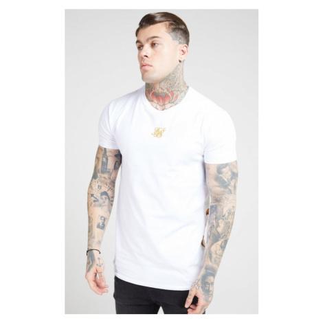 SIK SILK Pánske biele tričko SikSilk S/S Reverse Collar