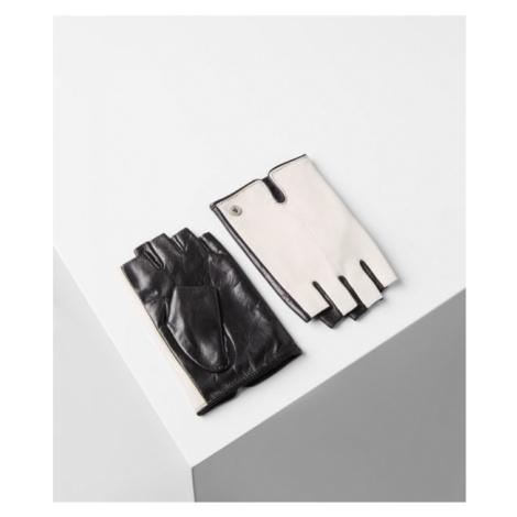 Rukavice Karl Lagerfeld K/Logo Leather Glove - Biela