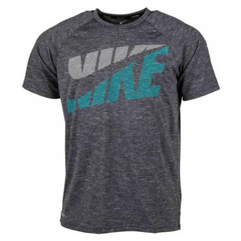 Nike HEATHER TILT čierna - Pánske tričko do vody