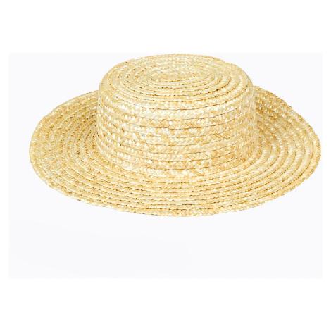 GATE Slamený klobúk boater