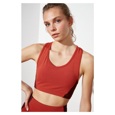 Trendyol Cinnamon Supported Back Detailed Sports Bra