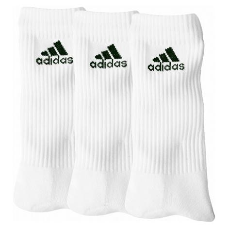 """Blancheporte Biele ponožky """"crew"""" zn. Adidas, súprava 3 párov biela"""