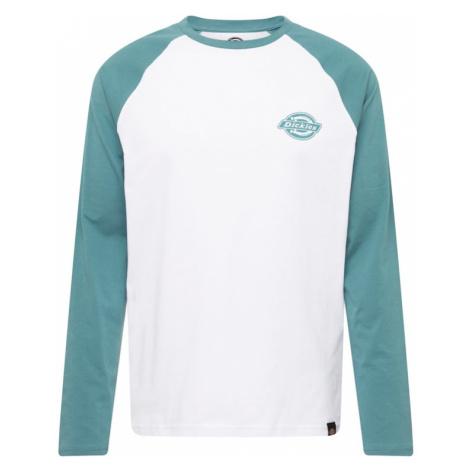 DICKIES Tričko  zelená / biela