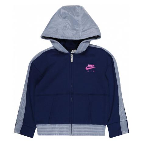 Nike Sportswear Tepláková bunda  tmavomodrá / svetlomodrá / ružová