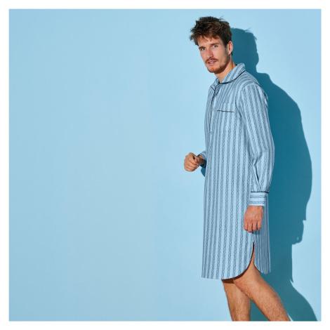 Blancheporte Nočná košeľa, bavlnený popelín modrá