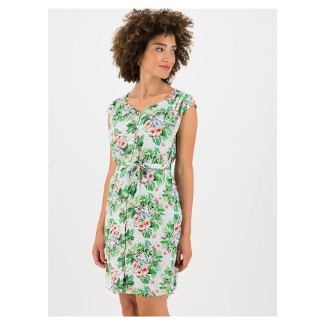 Zelené kvetované šaty Blutsgeschwister