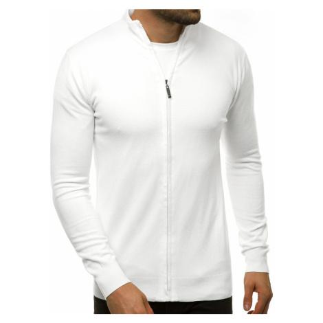 Jedinečný biely sveter na zips TMK/YY07/2