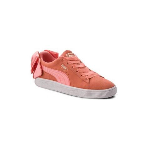Puma Sneakersy Suede Bow Jr 367316 01 Oranžová