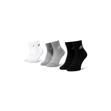 Adidas Súprava 3 párov kotníkových ponožiek unisex Ligth Crew 3Pp DZ9392 Čierna