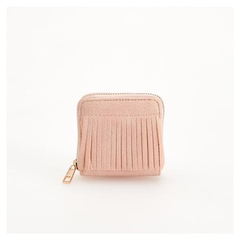 Reserved - Malá peňaženka so strapcami - Ružová