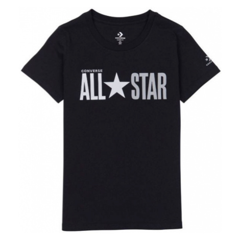 Converse ALL STAR SHORT SLEEVE CREW T-SHIRT čierna - Dámske tričko