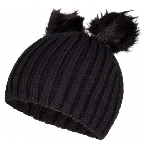 Lewro LILIEN čierna - Dievčenská pletená čiapka