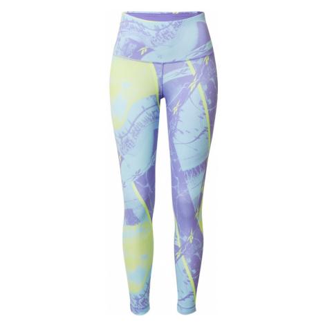 REEBOK Športové nohavice  fialová / limetková
