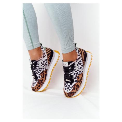Čierne kožené tenisky s leopardím vzorom