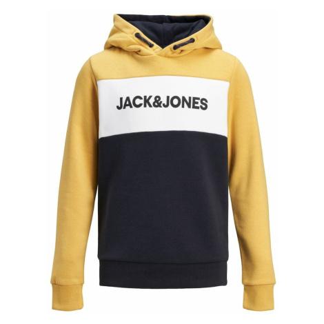 Jack & Jones Junior Mikina  čierna / žltá / biela