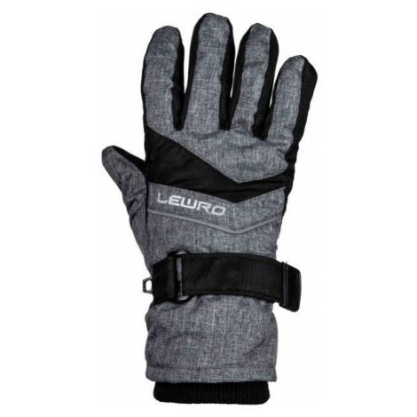 Lewro NIKORA čierna - Detské lyžiarske rukavice
