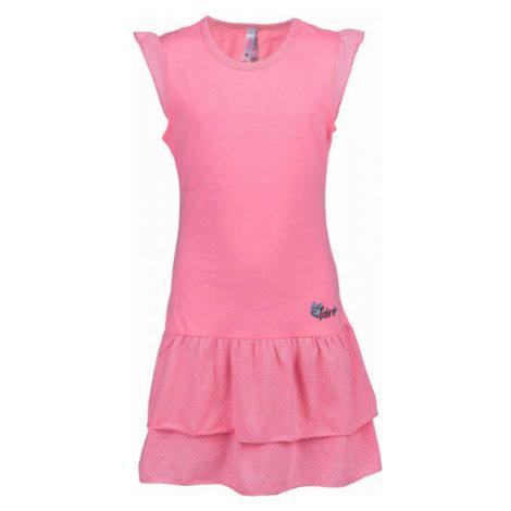 Lewro LASCO ružová - Dievčenské šaty s volánmi