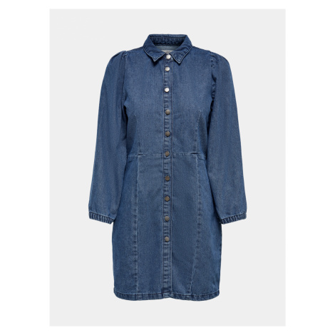 Modré rifľové šaty Jacqueline de Yong Athena