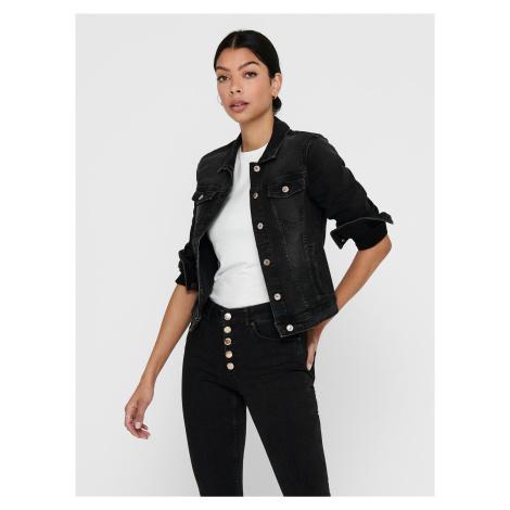 Čierna rifľová bunda ONLY Tia