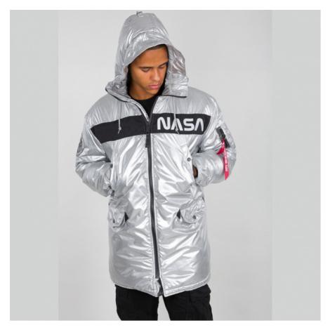 Pánska bunda Alpha Industries N-3B NASA Jacket Silver - Veľkosť:2XL