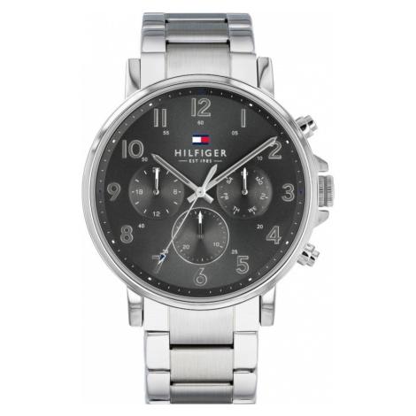 TOMMY HILFIGER Analógové hodinky 'Dressed Up, 1710382'  grafitová / strieborná