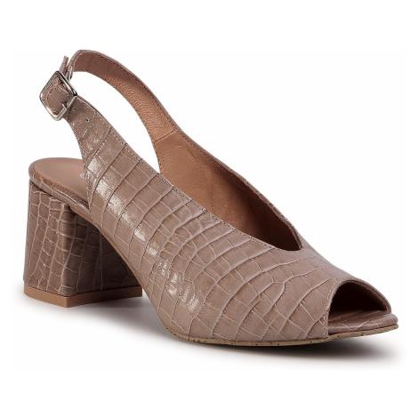 Sandále EDEO - 3332-1178 Wąż Beż