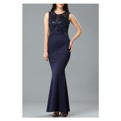 Dámske tmavomodré spoločenské šaty Ianthe