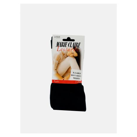 Tmavozelené pančuchové nohavice Marie Claire