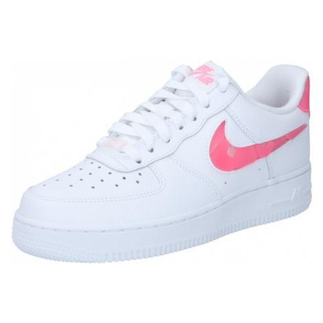 Nike Sportswear Nízke tenisky 'Air Force 1'  biela / neónovo ružová