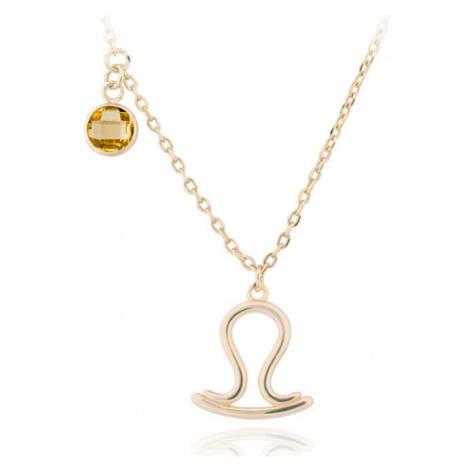 JVD Pozlátený náhrdelník s príveskom Váhy SVLN0135X61GOVA