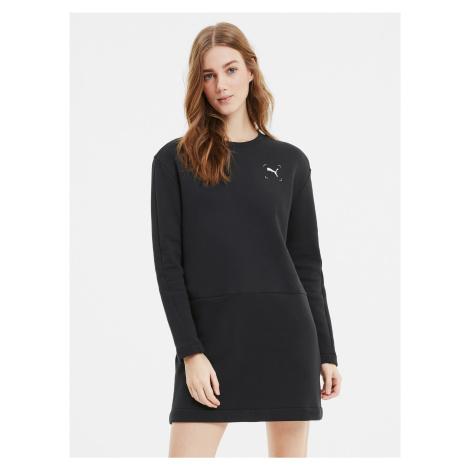 Čierne mikinové šaty Puma