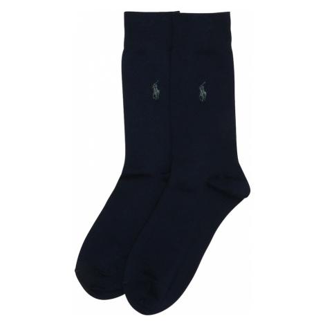 POLO RALPH LAUREN Ponožky 'SIZED FLAT-CREW-2 PACK'  modrá